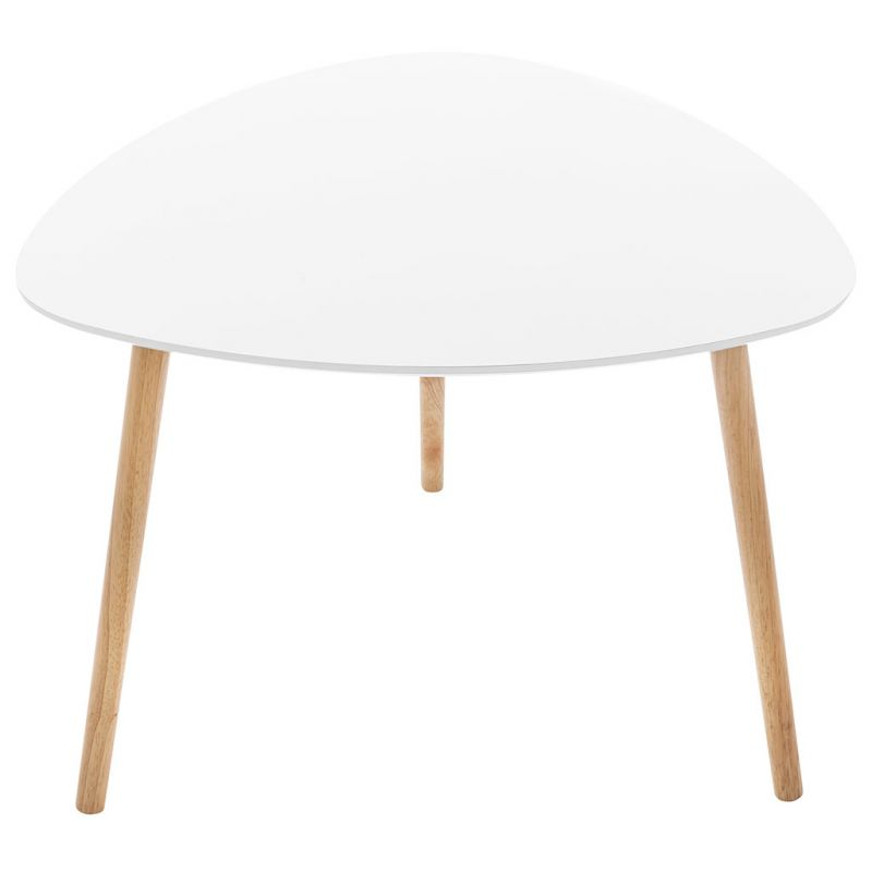 Table basse d\'appoint gigogne blanche 60x60x45cm