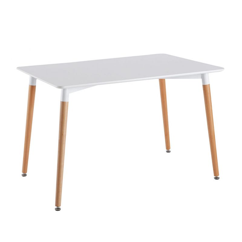 Table blanche scandinave 115x75cm