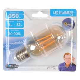 Ampoule LED à filament forme tube E27 4W=32W