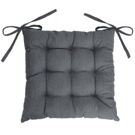 Assise matelassée polyester NEWTON anthracite 40x40cm