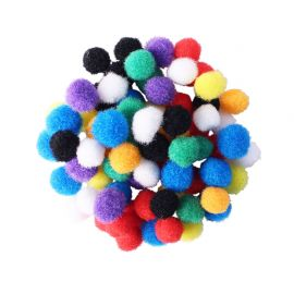 Assortiment de 200 mini-pompons colorés