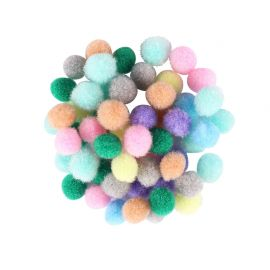 Assortiment de 200 mini-pompons pastel