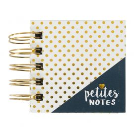 Bloc notes adhésives à spirales Petites notes