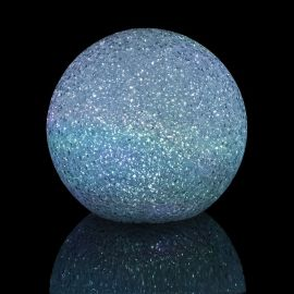 Boule cristal lumineuse LED multicolore D 12cm