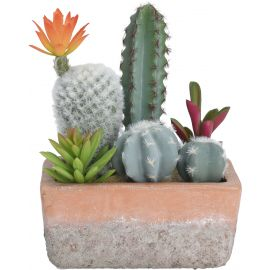 Cactus artificiels en pot 15x19x8cm