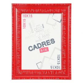 Cadre photo DANDY rouge 10x15cm