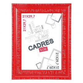 Cadre photo DANDY rouge 21x29.7cm