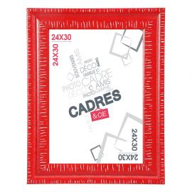 Cadre photo DANDY rouge 24x30cm