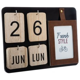 Calendrier déco french style 30x22x3.5cm