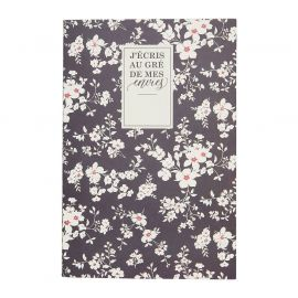 Carnet de notes 6 blocs floral 15x20cm