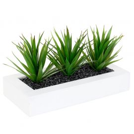 Centre de table aloe vera artificielle 31x16x17cm