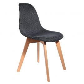 bois grosse maille noire Chaise pieds style scandinave QCsthrd