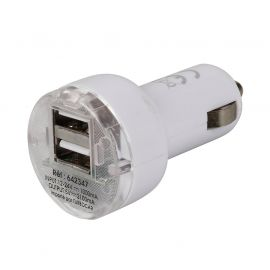 Chargeur double ports USB -12-24V