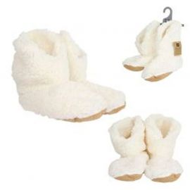 Chaussons bottines sherpa blanc