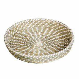 Coupelle SEAGRASS blanche D 27cm