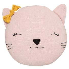 Coussin chat rose 27x12cm