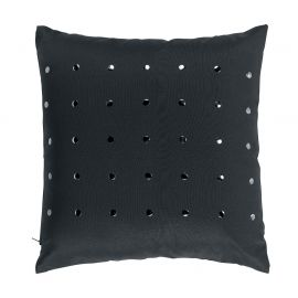 Coussin déco polyester anthracite 40x40cm