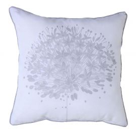 Coussin déco polyester GALYA blanc 40x40cm