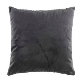 Coussin déco polyester velours anthracite 40x40cm