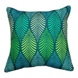 Coussin déhoussable polyester WINTER GREEN bleu 40x40cm