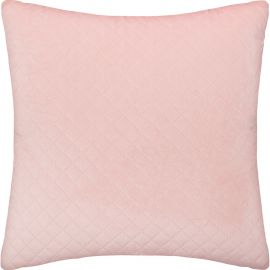 Coussin DOLCE velours rose clair 40x40cm