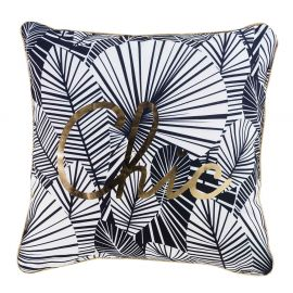 Coussin feuillage et or chikita 45x45cm