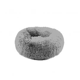 Coussin fluffy rond polyester gris clair D 55cm