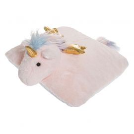 Coussin licorne rose polyester 39x39x18cm