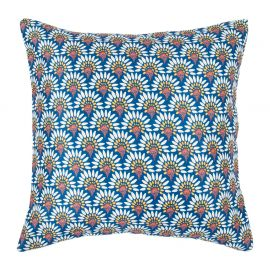 Coussin MARGUERITE polyester blanc 40x40cm