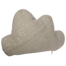Coussin nuage taupe 45x28cm