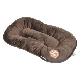 Coussin PATCHY chocolat 107cm