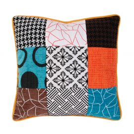 Coussin polyester patchwork 40x40cm