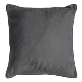 Coussin polyester velours ROMANTIC anthracite 40x40cm