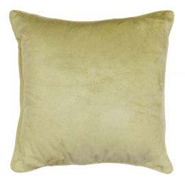 Coussin polyester velours ROMANTIC menthe 40x40cm