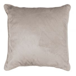 Coussin polyester velours ROMANTIC taupe 40x40cm