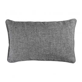 Coussin rectangulaire polyester CHAMBRAY anthracite 30x50cm
