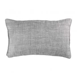 Coussin rectangulaire polyester CHAMBRAY gris 30x50cm
