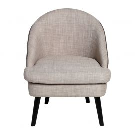 Fauteuil cosy effet lin gris
