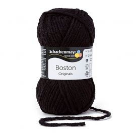 Fil à tricoter BOSTON noir 50g
