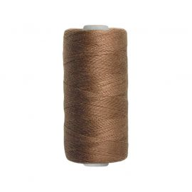 Fil en polyester marron clair 500m