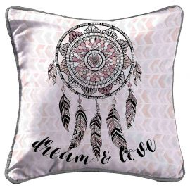Housse de coussin imprimé INDIAN DREAM 40x40cm