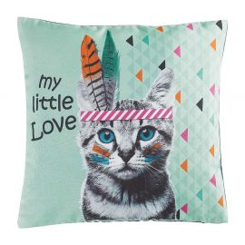 Housse de coussin INDIAN CAT 40x40cm