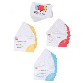 Jeu de cartes quiz 4 all 8.5x0.1x5.5cm
