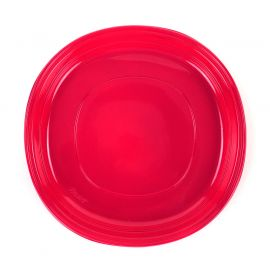 Lot de 10 assiettes en plastique rouges D 22cm