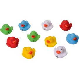 Lot de 10 canards jouets de bain multicolores