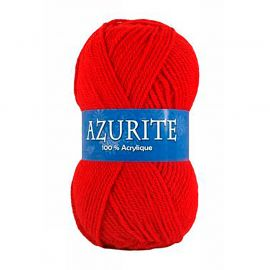 Lot de 10 pelotes de laine AZURITE rouges 50g
