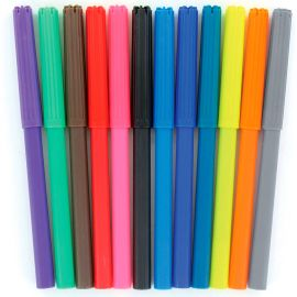 Lot de 12 crayons feutres multicolores