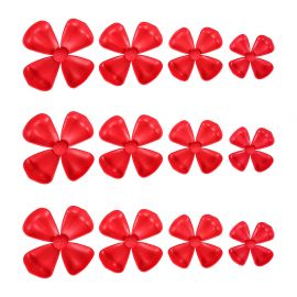 Lot de 12 stickers 3D fleurs rouges