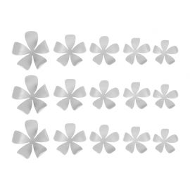 Lot de 15 stickers 3D jasmin gris
