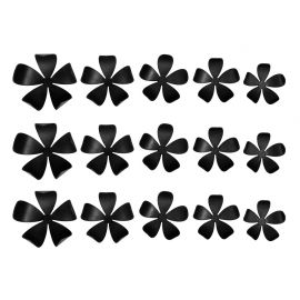 Lot de 15 stickers 3D jasmin noirs